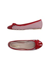 Clutch Footwear Ballet Flats Women Red
