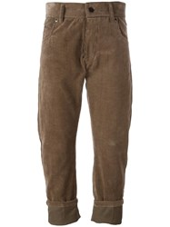 Haider Ackermann 'Taliaferro Vison' Corduroy Trousers Brown
