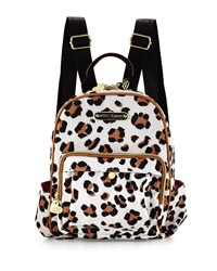 Betsey Johnson Tgif Leopard Print Medium Backpack Natural