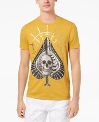 Guess Men's All Aces Graphic Print T Shirt Tawny Olive Multi