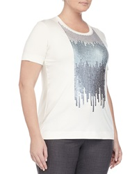 Marina Rinaldi Sequined Short Sleeve Tee Women's