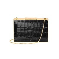Aspinal Of London Box Clutch Bag Black