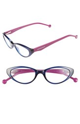 Women's Jonathan Adler '801' 50Mm Cat Eye Reading Glasses Navy