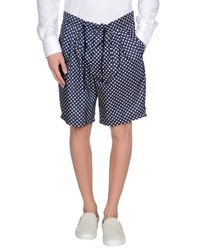 Yes London Trousers Bermuda Shorts Men Blue