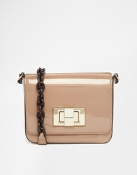 Mango Patent Cross Body Bag Nude