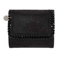 Stella Mccartney Black Small Falabella Flap Wallet