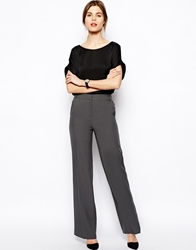 Asos Trousers In Wide Leg With Side Detail Grey
