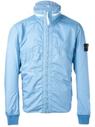 Stone Island Hooded Jacket Blue