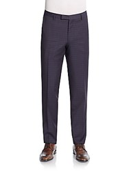 Sand Plaid Wool And Mohair Trousers Multi