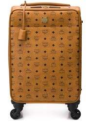 Mcm Logo Print Trolley Brown