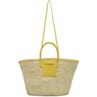 Jacquemus Beige And Yellow Le Grand Panier Soleil Tote