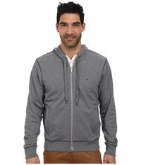 Lacoste Cotton Full Zip Hooded Sweatshirt Silver Grey Chine Navy Blue Men's Sweatshirt Gray