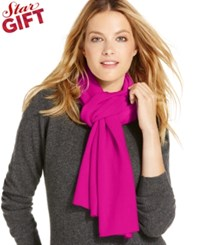 Charter Club Jersey Knit Cashmere Muffler Only At Macy's Bright Fuchsia