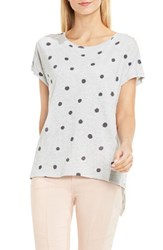 Vince Camuto Women's Two By Polka Dot Split Back Tee