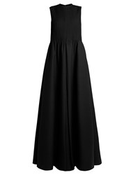 Valentino Pintuck Pleated Gown Black