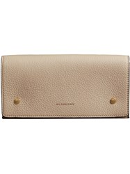 Burberry Two Tone Continental Wallet Nude And Neutrals