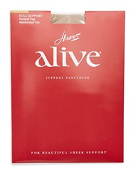 Hanes Alive Full Support Control Top Tights Natural