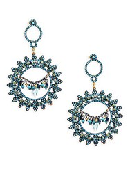 Azaara Blue Topaz Blue Quartz And Sterling Silver Drop Earrings No Color