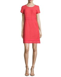 Laundry By Shelli Segal Cap Sleeve Round Neck Lace Dress Hibiscus