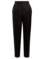 Dolce And Gabbana High Rise Cropped Trousers Black