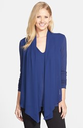 Women's Vince Camuto Chiffon Overlay Long Sleeve Top Lunar Navy