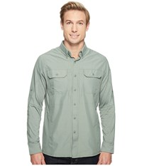 Kuhl Airspeed Long Sleeve Top Agave Green Men's Long Sleeve Button Up Gray