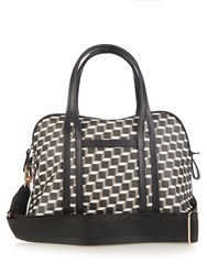 Pierre Hardy Cube Print Coated Canvas Bag Black White