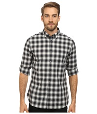 John Varvatos Roll Up Sleeve Shirt With Button Down Collar And Single Pocket W387r2b Pewter Men's Clothing