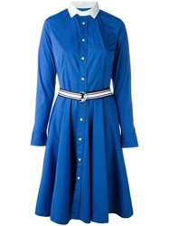 Polo Ralph Lauren Flared Shirt Dress Blue