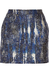Stella Mccartney Becca Tie Dye Effect Jacquard Mini Skirt Blue