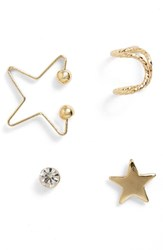 Women's Topshop Star Ear Cuff And Earrings Set Of 4
