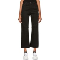 Maison Martin Margiela Mm6 Black Garment Dyed Jeans