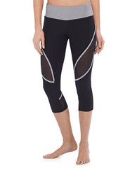 Mpg Grid Ventilated Capri Leggings Grey
