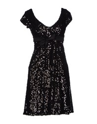 Lupattelli Short Dresses Black
