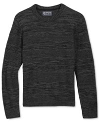 American Rag Men's Mix Stitch Sweater Only At Macy's Deep Black