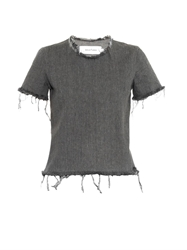 Marques Almeida Frayed Edge Denim Top