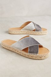 Anthropologie Porto Espadrille Sandals Dark Grey