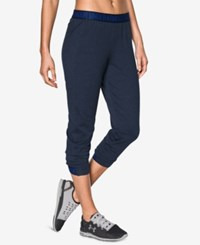 Under Armour Featherweight Cropped Fleece Pants Midnight Navy
