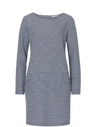 Betty Barclay Woven Long Sleeved Dress Blue