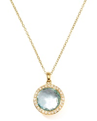 Ippolita 18K Gold Rock Candy Mini Lollipop Diamond Blue Topaz Necklace Gold