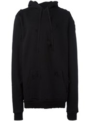 Unravel Destroyed 'Terry' Hoodie Black