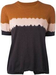 Etoile Isabel Marant Gradient Effect T Shirt Women Cotton Cashmere 36 Brown