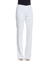 St. John Jennifer Fit Classic Cady Boot Cut Pants Bianco