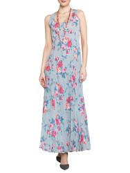 East Valentina Print Pleat Dress Dove