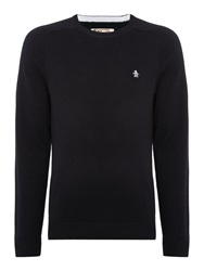 Original Penguin Plain Crew Neck Pull Over Jumpers Black