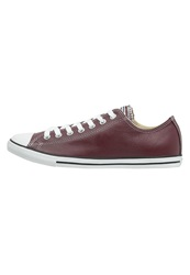 Converse Chuck Taylor All Star Lean Trainers Deep Bordeaux Natural White Dark Red