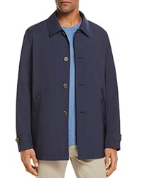 Brooks Brothers Twill Trench Shirt Jacket Navy