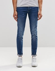 Firetrap Slim Fit Jean With Button Fastening Fly Blue