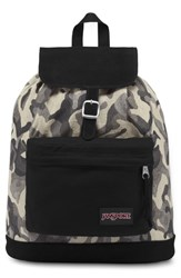 Jansport Haiden Back Pack Black Black Camo Jacquard