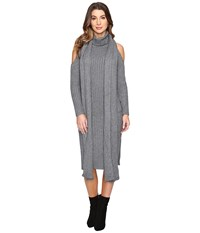 Fate Cold Shoulder Sweater Dress Charcoal Women's Dress Gray